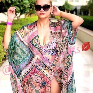 ZARA Printed Kimono Cover-up